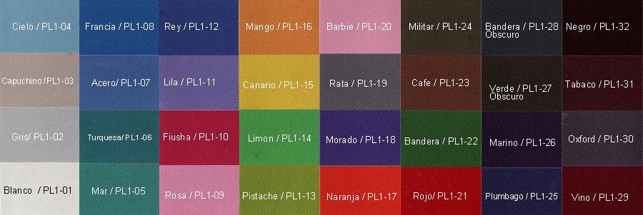 Paleta Colores Poly600
