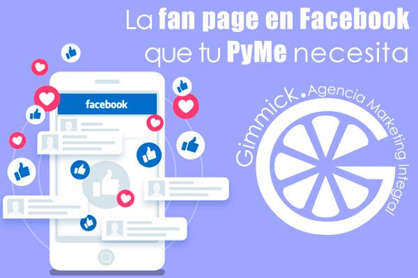 fan page en Facebook