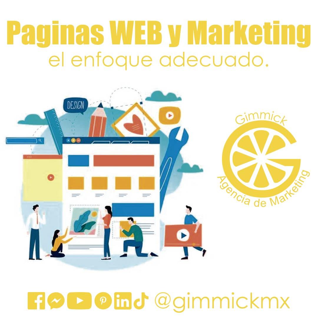 Paginas WEB y Marketing, el enfoque adecuado.